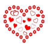 Coeur rouge avec des coeurs Photos libres de droits