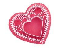 Coeur rouge avec l'espace central de copie Images libres de droits