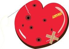 Coeur rouge avec la fente Images libres de droits