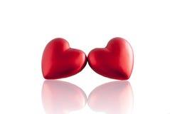 Coeur rouge avec la réflexion de miroir Photographie stock libre de droits