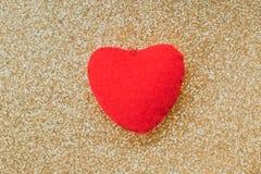 Coeur rouge avec le scintillement de lueur Photo libre de droits