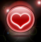 Coeur rouge brillant Illustration Stock