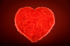 Coeur rouge brillant Image stock