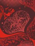 Coeur rouge décoratif d'amour illustration libre de droits