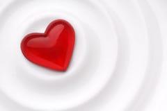 Coeur rouge d'amour Photographie stock libre de droits