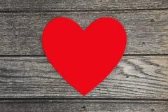 Coeur rouge d'amour avec l'espace de copie au centre Image stock