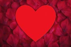 Coeur rouge d'amour avec l'espace pour la copie Photos stock