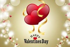 Coeur rouge d'amour, concept de jour de valentines Photographie stock