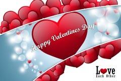 Coeur rouge d'amour, concept de jour de valentines Photographie stock libre de droits