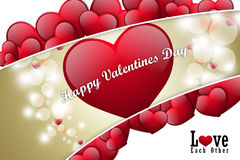 Coeur rouge d'amour, concept de jour de valentines Image libre de droits
