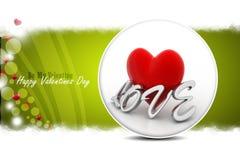 Coeur rouge d'amour, concept de jour de valentines Photos libres de droits