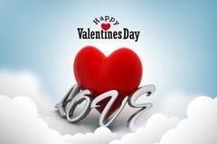 Coeur rouge d'amour, concept de jour de valentines Images libres de droits