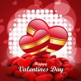 Coeur rouge d'amour, concept de jour de valentines Images stock