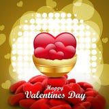 Coeur rouge d'amour, concept de jour de valentines Image stock