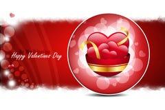 Coeur rouge d'amour, concept de jour de valentines Photo libre de droits