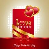 Coeur rouge d'amour, concept de jour de valentines Photos stock