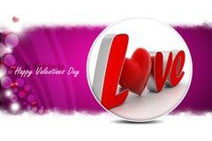 Coeur rouge d'amour, concept de jour de valentines Photo stock