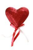 Coeur rouge d'amour du jour de Valentine Images stock