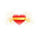 Coeur rouge d'amour Vecteur Photo stock