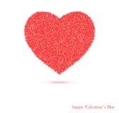 Coeur rouge d'isolement sur le blanc Photographie stock