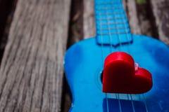 Coeur rouge dans les ombres Images libres de droits