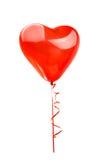 coeur rouge de ballon d'isolement Photo stock