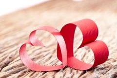 Coeur rouge de bande Image libre de droits