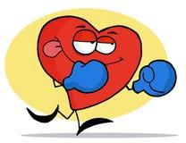 Coeur rouge de boxe Image stock