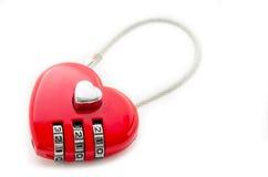 Coeur rouge de clé machine Photos stock