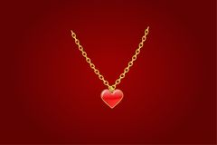 Coeur rouge de coulomb Image libre de droits