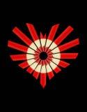 Coeur rouge de crayon Photographie stock libre de droits