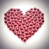 Coeur rouge de diamant - avec le chemin de découpage Image libre de droits