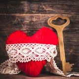 Coeur rouge de fil Image libre de droits