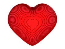 Coeur rouge de fil Photos stock