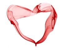 Coeur rouge de fumée Image stock