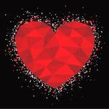 Coeur rouge de mosaïque Photos libres de droits