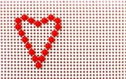 Coeur rouge de mosaïque sur le fond blanc, jour de valentines Photographie stock libre de droits