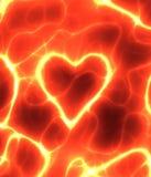 coeur rouge de pouvoir de l'électricité   Photos stock