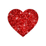 Coeur rouge de scintillement Images stock