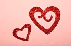 Coeur rouge de scintillement pour la Saint-Valentin Photo libre de droits