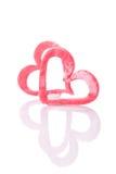 Coeur rouge de sucre Photo libre de droits