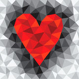 Coeur rouge de triangle Image stock