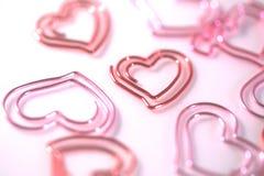 Coeur rouge de trombone Photo libre de droits