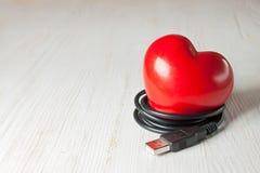 Coeur rouge de valentine Image libre de droits