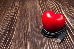 Coeur rouge de valentine Images libres de droits