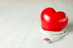 Coeur rouge de valentine Photo stock
