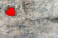 Coeur rouge de valentine Photos stock