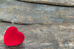 Coeur rouge de valentine Photo libre de droits