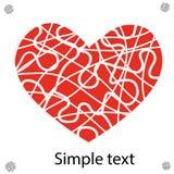 Coeur rouge de vecteur Images stock