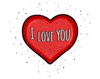 Coeur rouge de vecteur de Saint-Valentin heureuse illustration de vecteur